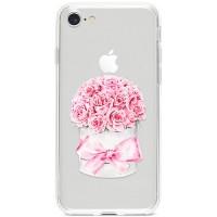 Kryt pro iPhone 7/8/SE (2020) Krabice růží s mašlí