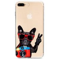 Kryt pro iPhone 7 Plus / 8 Plus Francouzský buldoček s foťákem
