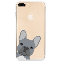 Kryt pro iPhone 7 Plus / 8 Plus Šedý buldok