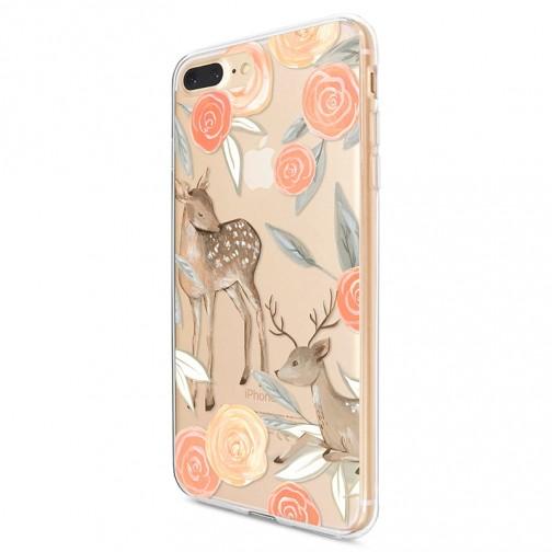 Kryt pro iPhone 7 Plus / 8 Plus Koloušek s růžemi v pastelových barvách