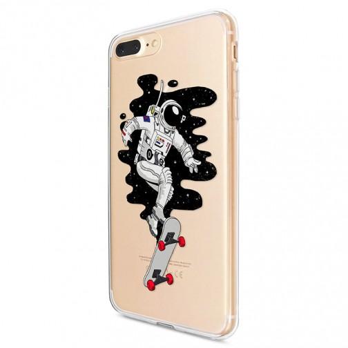 Kryt pro iPhone 7 Plus / 8 Plus Kosmonaut na skateboardu