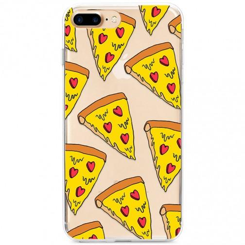 Kryt pro iPhone 7 Plus / 8 Plus Sýrová pizza se srdíčky