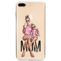 Kryt pro iPhone 7 Plus / 8 Plus Trendy máma s dcerou