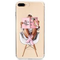 Kryt pro iPhone 7 Plus / 8 Plus Žena s módním časopisem