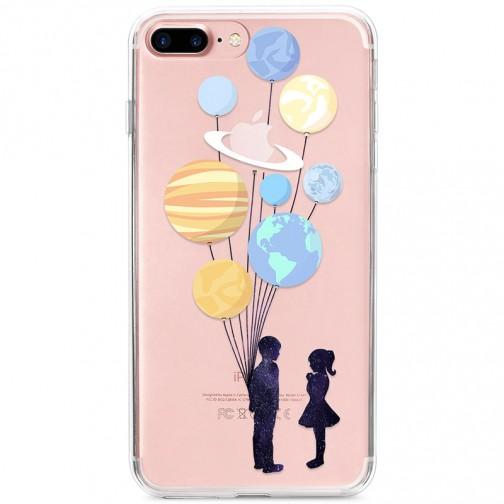 Kryt pro iPhone 7 Plus / 8 Plus Pár s balónky jako planety