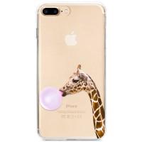 Kryt pro iPhone 7 Plus / 8 Plus Žirafa s bublinou