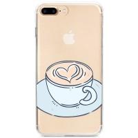 Kryt pro iPhone 7 Plus / 8 Plus Káva se srdíčkem