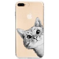 Kryt pro iPhone 7 Plus / 8 Plus Koukající kočka