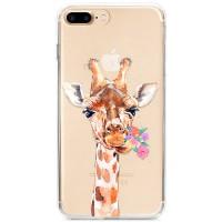 Kryt pro iPhone 7 Plus / 8 Plus Žirafa s kyticí