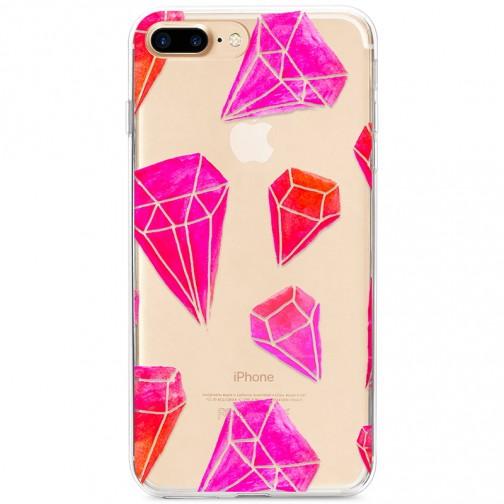 Kryt pro iPhone 7 Plus / 8 Plus Růžové diamanty
