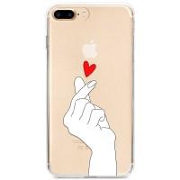 Kryt pro iPhone 7 Plus / 8 Plus Srdíčko z prstů