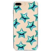 Kryt pro iPhone 7 Plus / 8 Plus Vzor tyrkysové hvězdy