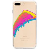 Kryt pro iPhone 7 Plus / 8 Plus Neonový kousek pizzy