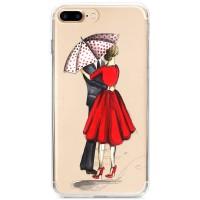 Kryt pro iPhone 7 Plus / 8 Plus Zamilovaný pár pod deštníkem