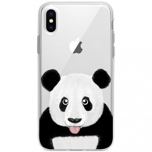 Kryt pro iPhone X/XS Roztomilá panda