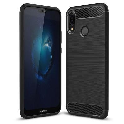 Pouzdro Carbon Brushed pro Huawei P20 Lite - černé