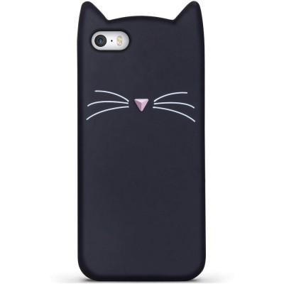 Silikonový 3D kryt Kočka pro iPhone 5/5S/5SE