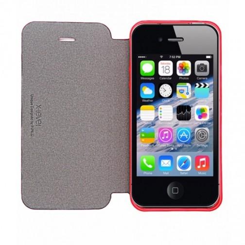 X-level FIB Color pouzdro pro iPhone 5/5S/SE růžové