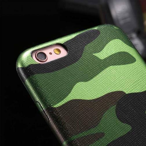 Pružný kryt Army Camouflage pro iPhone 7/8