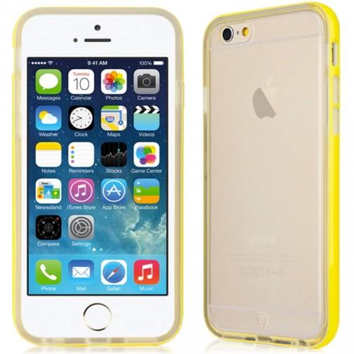 Ochranný kryt Baseus TPU Bumper se žlutým rámečkem pro iPhone 6/6s