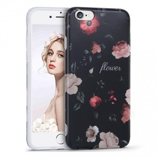 Silikonový kryt pro iPhone 6/6s květiny