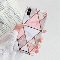 Mramorový kryt pro iPhone 6/6s trojúhelníky