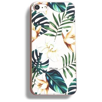 Silikonový kryt pro iPhone 7/8 Bahama Leaves