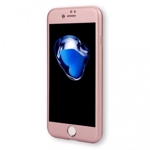 Kryt 360 pro iPhone 6/6s + tvrzené sklo na displej - růžový