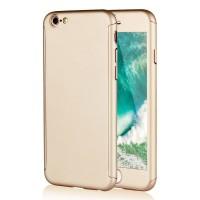 Kryt 360 pro iPhone 6/6s + tvrzené sklo na displej - zlatý