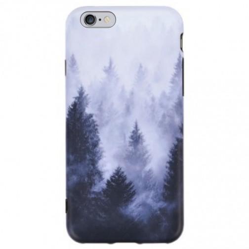Pružný kryt pro iPhone 6/6s Foggy tree