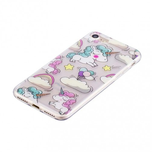 Matný gelový kryt pro iPhone 7/8 Jednorožci
