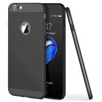 Ultra-tenký plastový kryt perforovaný pro iPhone 6/6s, černý