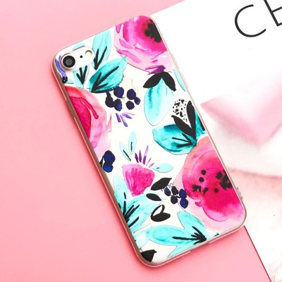 Silikonový kryt pro iPhone 6/6s Poppy flower