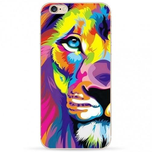 Silikonový stylový kryt pro iPhone 6/6s Rainbow Lion