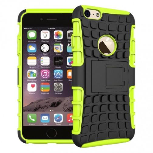 Odolný kryt se stojánkem pro iPhone 6/6s, zelený