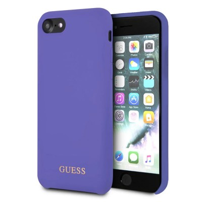 Kryt Guess Saffiano PU Silicone Case Purple iPhone 7/8/SE 2020 fialový