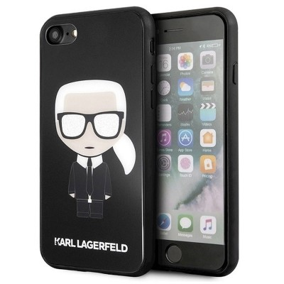 Kryt Karl Lagerfeld Iconic Full Body Glitter iPhone 7/8/SE 2020 černý