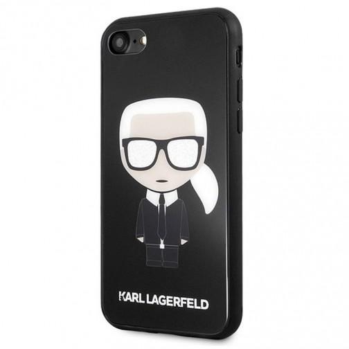 Kryt Karl Lagerfeld Iconic Full Body Glitter iPhone 7/8/SE 2020 černý