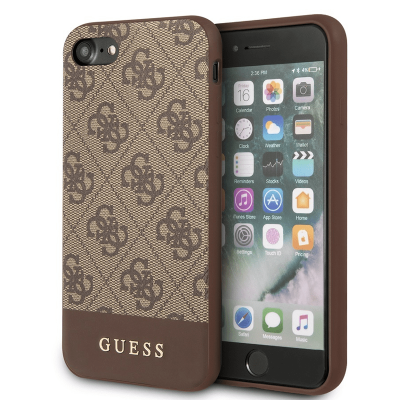 Kryt Guess 4G Stripe iPhone 7/8/SE 2020 hnědý