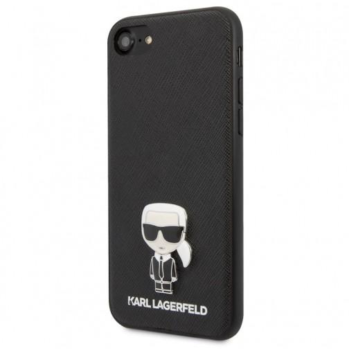 Kryt Karl Lagerfeld Saffiano Iconic iPhone 7/8/SE 2020 černý