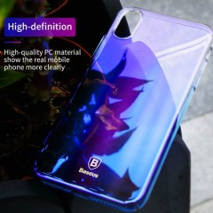 Plastový kryt na iPhone X Baseus Glaze Series, modrý