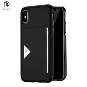 Luxusní pouzdro na iPhone X DUX DUCIS Pocard Series, černé