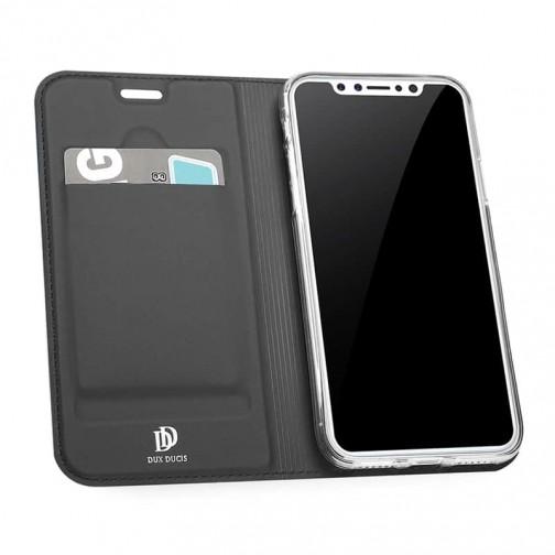 Luxusní pouzdro na iPhone X/XS DUX DUCIS Skin Pro Series, černé