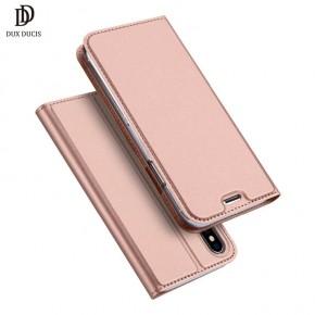 Luxusní pouzdro na iPhone X DUX DUCIS Skin Pro Series, růžové