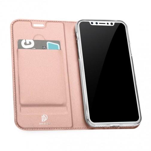 Luxusní pouzdro na iPhone X/XS DUX DUCIS Skin Pro Series, růžové
