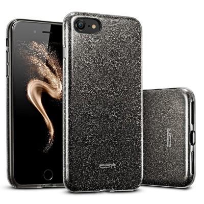 ESR Makeup Glitter pouzdro pro iPhone 7/8SE 2020 černé