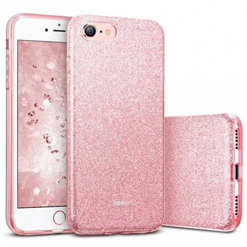 ESR Makeup Glitter pouzdro pro iPhone 7/8SE 2020 růžové