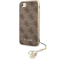 Kryt Guess Charms Hard Case 4G Brown iPhone 7/8/SE 2020, hnědý