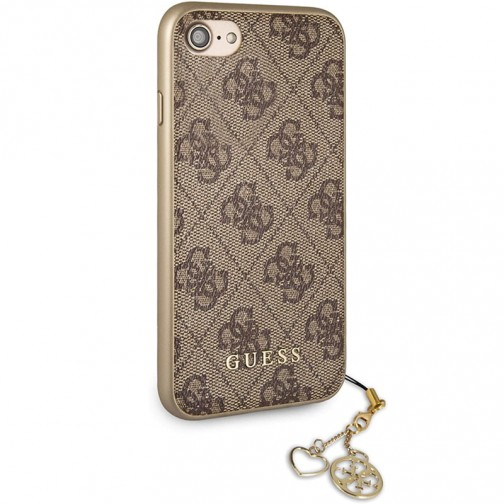 Kryt Guess Charms Hard Case 4G Brown iPhone 7/8/SE 2020, hnědý