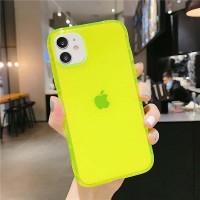 Fluorescentní neonové pouzdro pro Phone 7/8/SE 2020, žluté